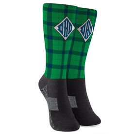Personalized Printed Mid-Calf Socks - Relaxed Dad
