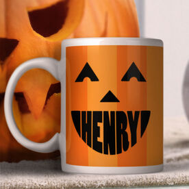 Pumpkin Face Personalized Mug