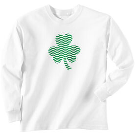Swim Tshirt Long Sleeve Shamrock Waves