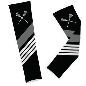 Lacrosse Printed Arm Sleeves Lacrosse Sticks with Stripes
