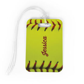 Softball Bag/Luggage Tag - Personalized Stitches
