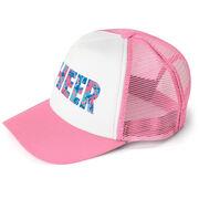 Cheerleading Trucker Hat - Floral Cheer