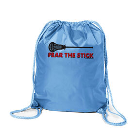 Fear The Stick Lacrosse Sport Pack Cinch Sack