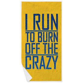 Running Premium Beach Towel - I Run To Burn Off The Crazy