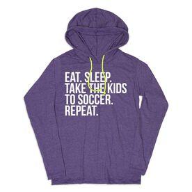 Women's Soccer Lightweight Hoodie - Eat Sleep Take The Kids To Soccer