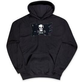 Guys Lacrosse Hooded Sweatshirt - Lax Pirate Flag