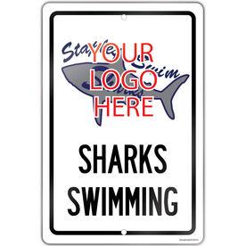 "Swimming 18"" X 12"" Aluminum Room Sign Swimming Custom Logo With Team Name"