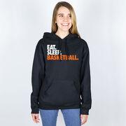 Basketball Hooded Sweatshirt - Eat. Sleep. Basketball.