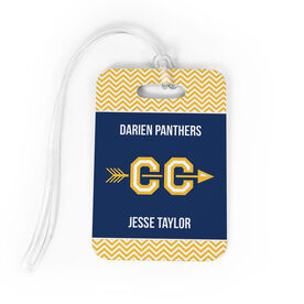 Cross Country Bag/Luggage Tag - Personalized Cross Country Team with Arrow