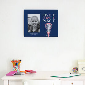 Girls Lacrosse Photo Frame - Live it Love it Play It