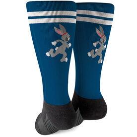 Running Printed Mid-Calf Socks - Tortoise and Hare
