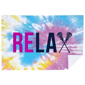 Girls Lacrosse Premium Blanket - Relax Tie-Dye