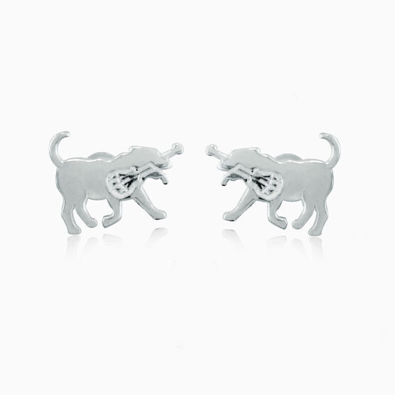 Livia Collection Sterling Silver Post Earrings LuLa the Lax Dog