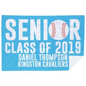 Baseball Premium Blanket - Personalized Senior Class Of