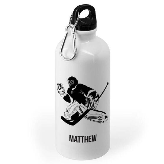 Hockey 20 Oz Stainless Steel Water Bottle Hockey Goalie