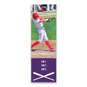 "Baseball 12.5"" X 4"" Removable Wall Tile - Personalized Photo"