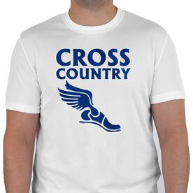 Cross Country Men's Customized Short Sleeve Tech Tee Cross Country Winged Foot