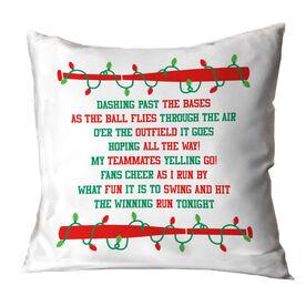 Baseball Throw Pillow - Jingle All The Way
