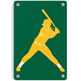 Softball Metal Wall Art Panel - Batter
