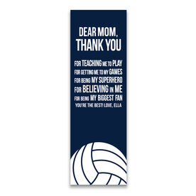 """Volleyball 12.5"""" X 4"""" Removable Wall Tile - Dear Mom (Vertical)"""
