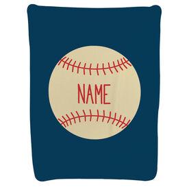 Baseball Baby Blanket - Personalized Baseball