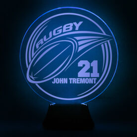 Rugby Acrylic LED Lamp Pass With 1 Line and Number