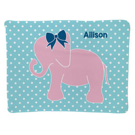 Personalized Baby Blanket - Elephant with Bow