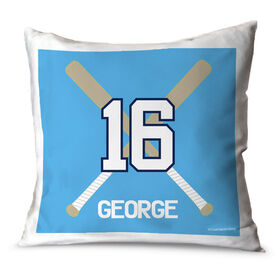 Baseball Throw Pillow Personalized Crossed Bats