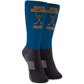 Hockey Printed Mid-Calf Socks - Custom Team Name & Number