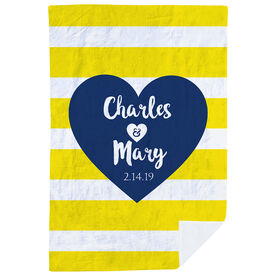 Personalized Premium Blanket - Love Our Chic Heart Text
