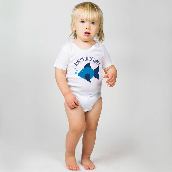 Swimming Baby One-Piece - Daddy's Litttle Guppy