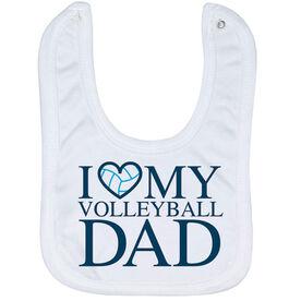 Volleyball Baby Bib - I Love My Volleyball Dad