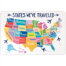 "Personalized 18"" X 12"" Aluminum Room Sign - States We've Traveled (Dry Erase)"