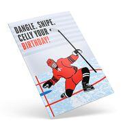 Hockey Birthday Greeting Card - Dangle Snipe Celly