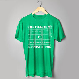Football Tshirt Short Sleeve The Field Is My Second Home
