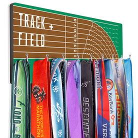 Track And Field Hooked on Medals Hanger - Track and Field Lanes