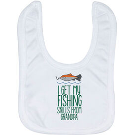 Fly Fishing Baby Bib - I Get My Skills From