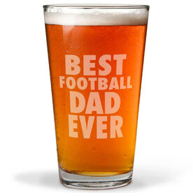 16 oz. Beer Pint Glass Best Football Dad Ever