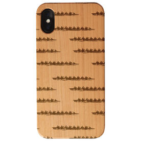 Crew Engraved Wood IPhone® Case - Crew Silhouette Pattern
