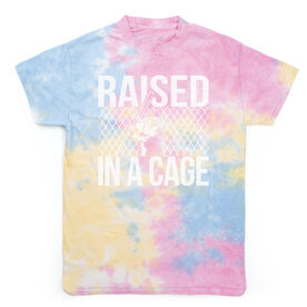 Baseball Short Sleeve T-Shirt - Raised In A Cage Tie Dye
