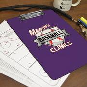 Baseball Custom Clipboard Baseball Custom Logo
