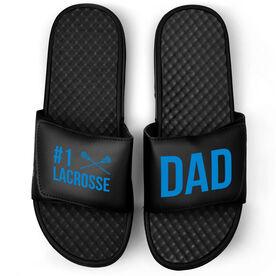 Guys Lacrosse Black Slide Sandals - #1 Lacrosse Dad