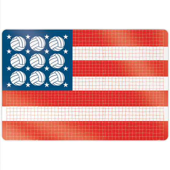 "Volleyball 18"" X 12"" Aluminum Room Sign - Patriotic"
