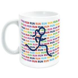 Running Coffee Mug - Run Run Run With Stick Figure