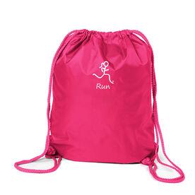 Run Girl (Stick Figure-w/word) Sport Pack Cinch Sack