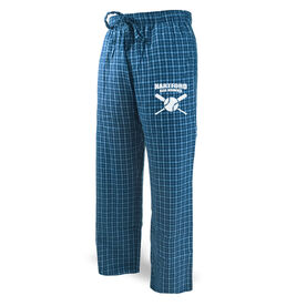 Softball Lounge Pants Team Name With Crossed Bats
