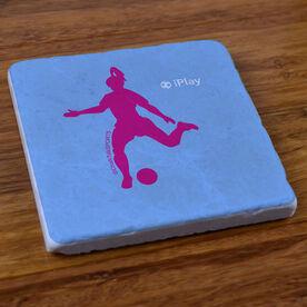 iPlay Soccer (Female) - Stone Coaster