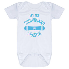 Snowboarding Baby One-Piece - My First Snowboard Season