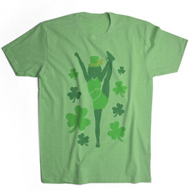 Cheerleading Vintage Lifestyle T-Shirt - Cheer For St. Patrick's Day