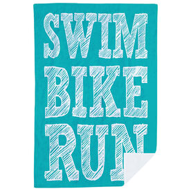 Triathlon Premium Blanket - Swim Bike Run Stacked